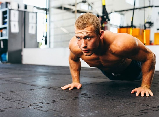 alpha male working out