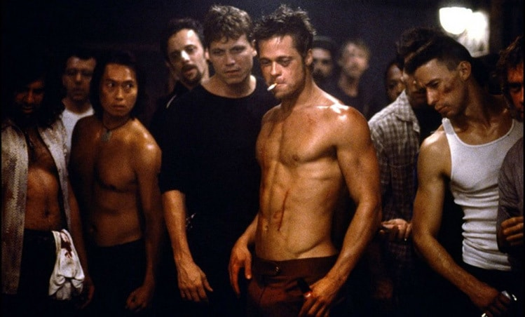 brad pitt fight club jawline