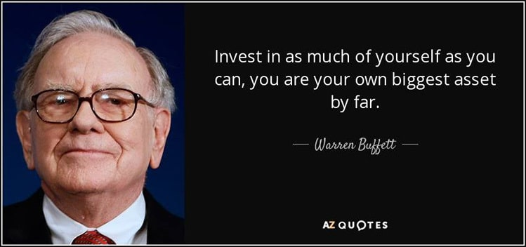 invest in yourself warren buffet