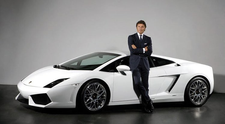 masculine men with lamborghini
