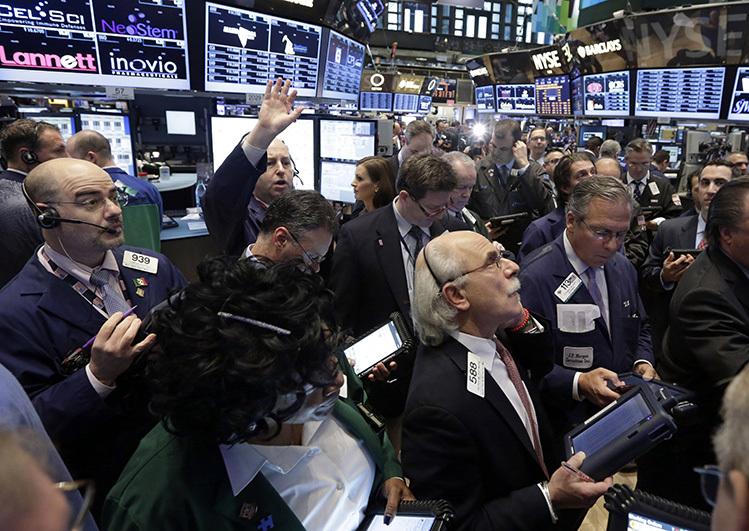 wall street stock trading room