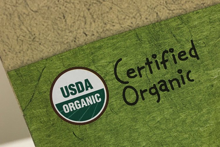 organic coffee label