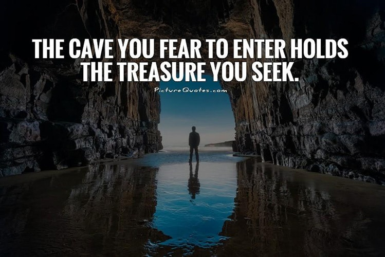 joseph campbell confidence cave fear quotes