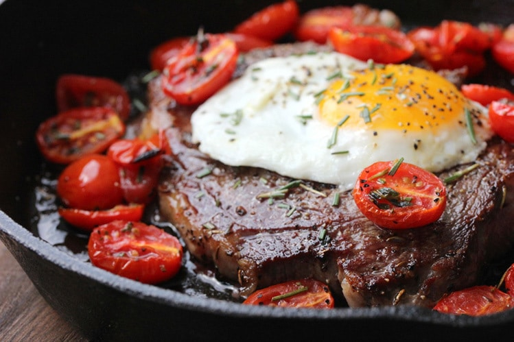steak and eggs diet example