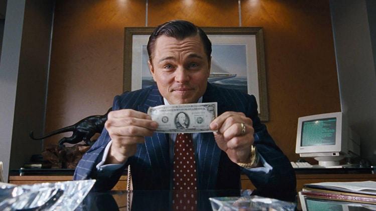 wolf of wallstreet money