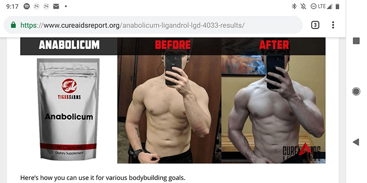 stolen sarms pictures cure aids report