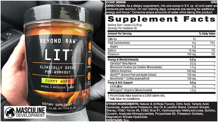 beyond raw lit pre workout review