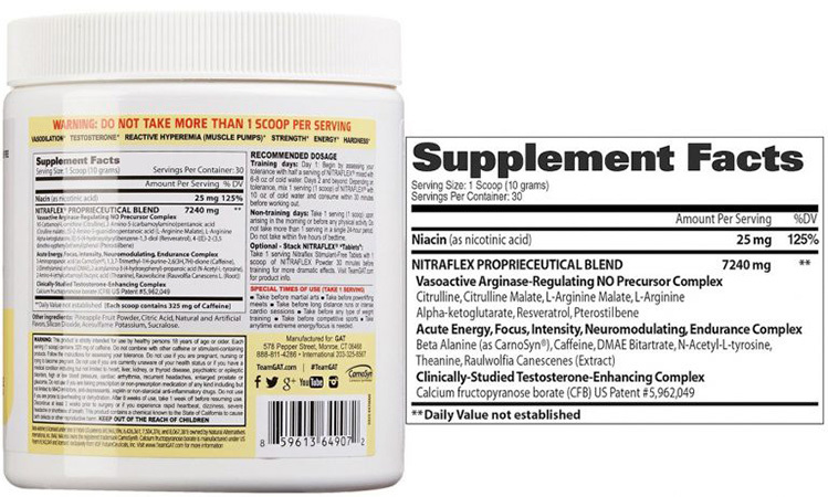 nitraflex ingredients review