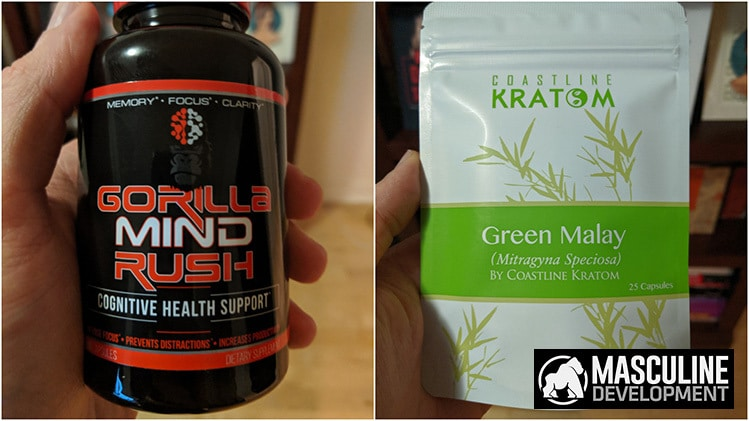 gorilla mind rush with kratom