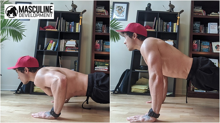 home workout routine pushups jon anthony